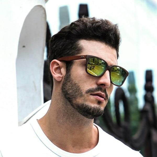 óculos de madeira masculino ideias