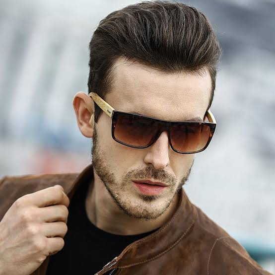 óculos de madeira masculino moderno