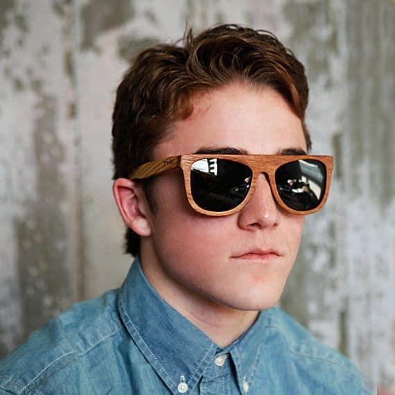 óculos de madeira masculino retro