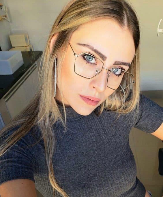 óculos hexagonal de grau