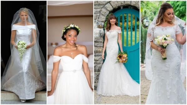Vestido de noiva ombro a ombro – 51 modelos para ARRASAR!