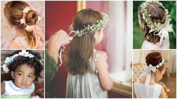 Penteados para daminhas: 72 inspirações fofas e elegantes!