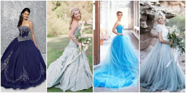 Vestido de noiva azul – 51 modelos e tons para impressionar!