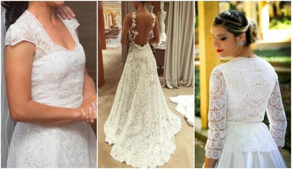 vestido de noiva em renda renascença