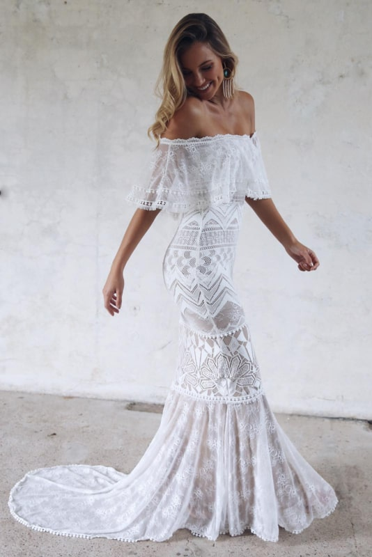 vestido sereia para casamento na praia