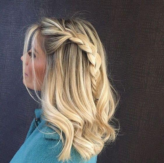 penteado solto cabelo médio