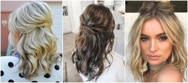 penteados para convidada de casamento de cabelo médio