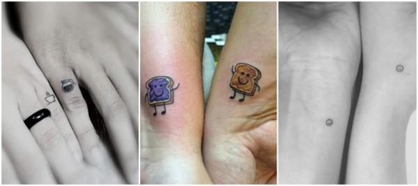 tatuagens fofas de casal