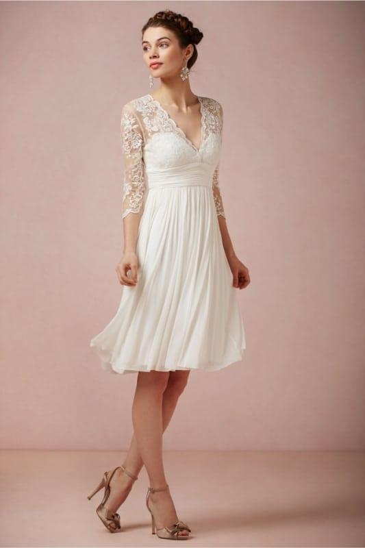 vestido de noiva curto para casamento no civil