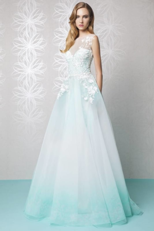 vestido degradê tiffany