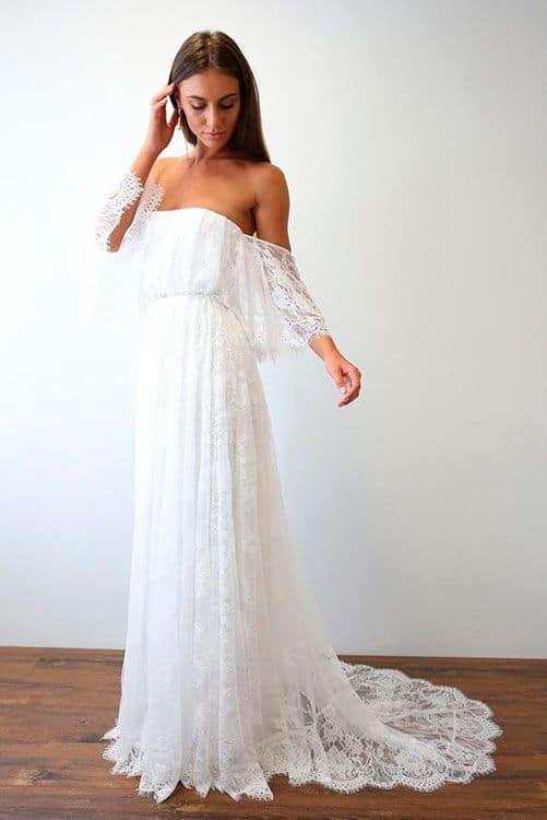 vestido de noiva boho em renda
