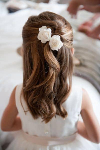 penteado semi preso para daminha de honra