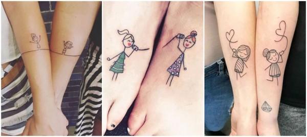 tatuagens fofas para amigas