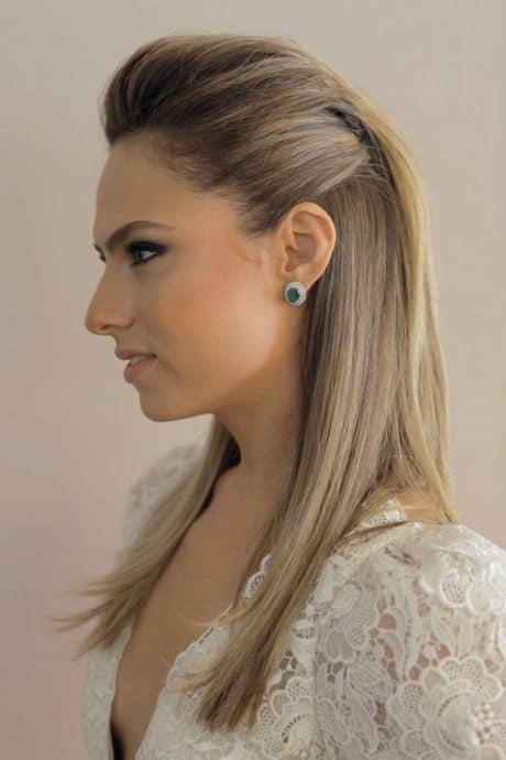 penteado simples para cabelo liso