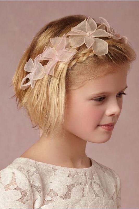 penteado daminha cabelo curto e liso
