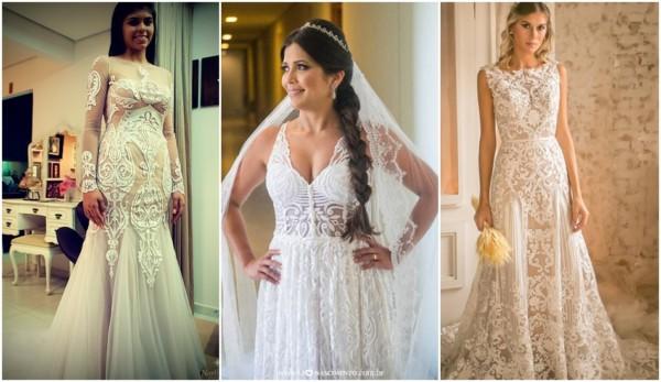 vestido de noiva em renda arabesco
