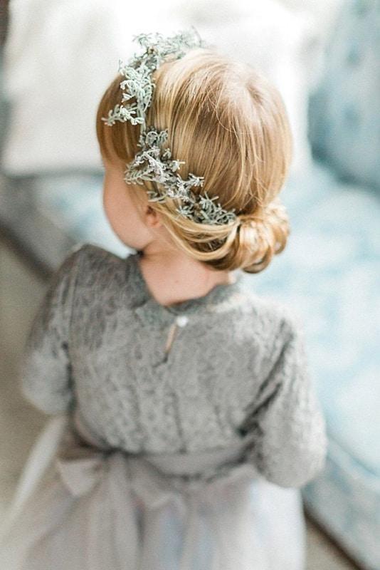 penteado infantil preso para cabelo liso