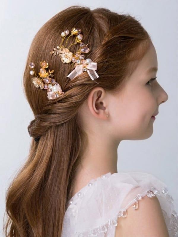penteado semi preso em cabelo liso