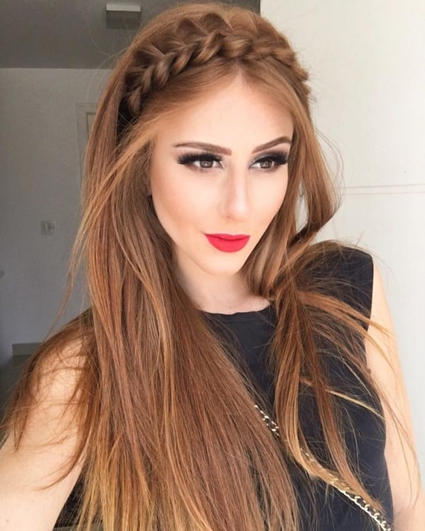 penteado para cabelo liso simples