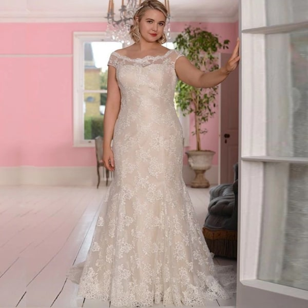 vestido de noiva plus size sereia