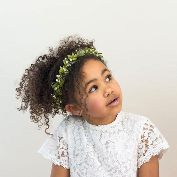 penteado infantil despojado cabelo cacheado