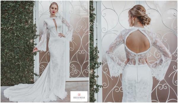 26 vestido de noiva em renda com decote nas costas