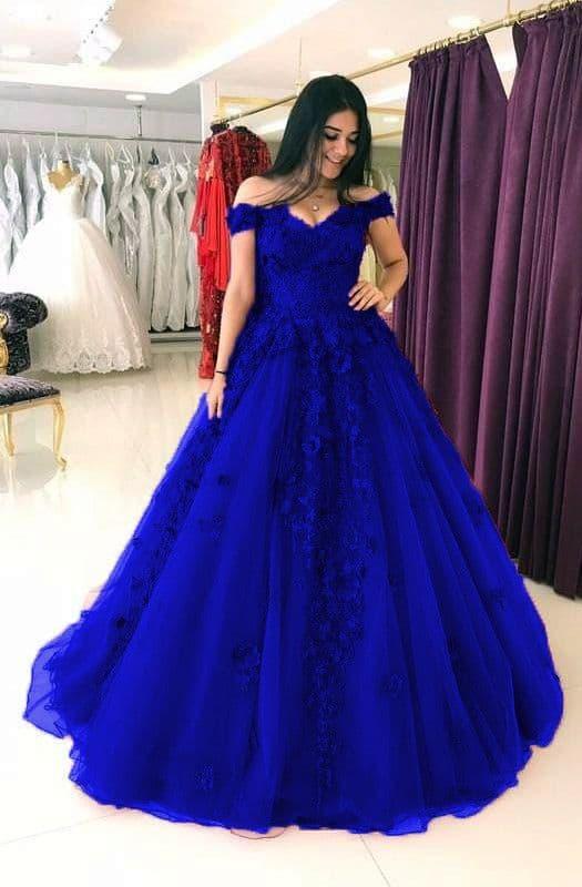 vestido de noiva rodado azul royal