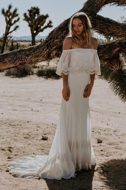 vestido de noiva simples estilo boho