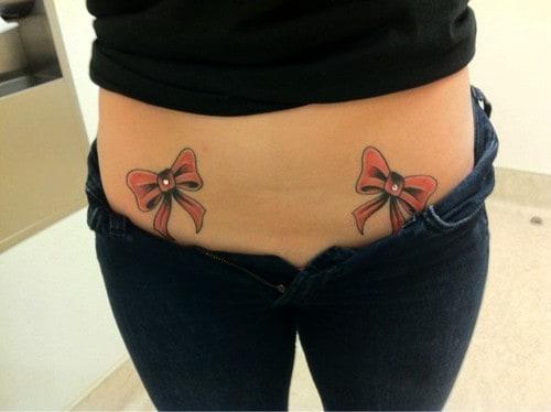 tattoo dupla de laço