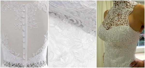 vestido de noiva de renda francesa soutache