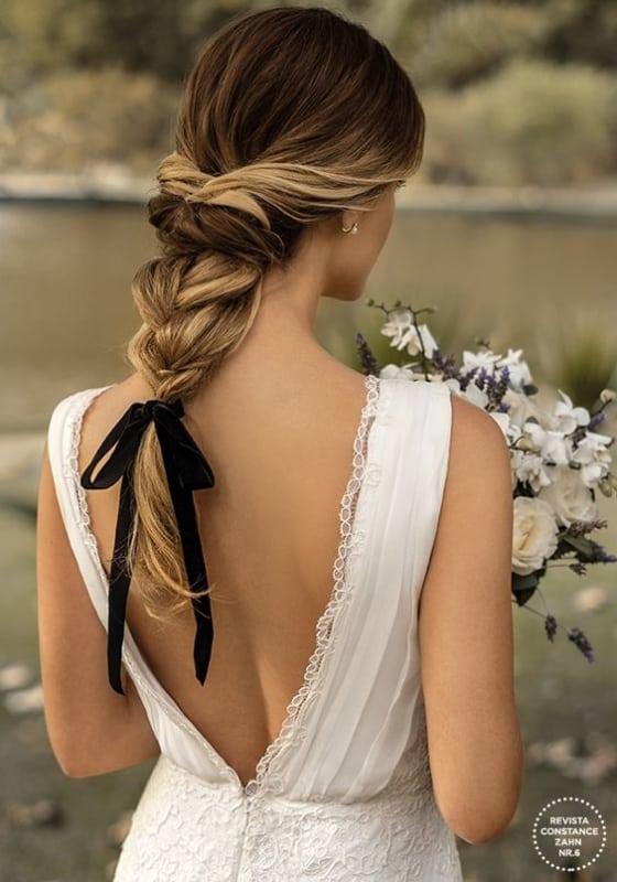 penteado com trança para noiva