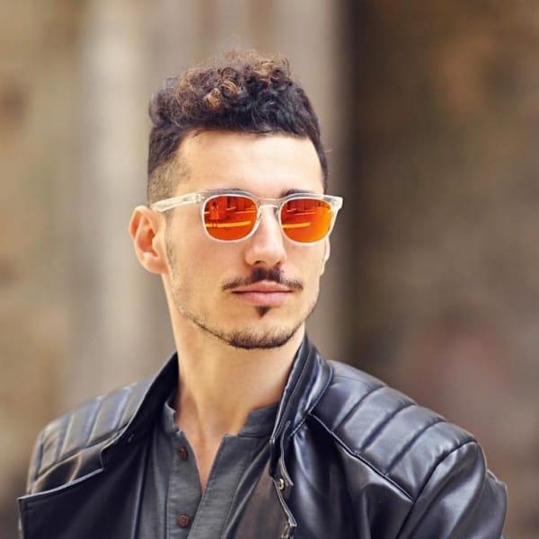 como usar óculos com lente laranja