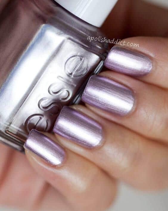 nail art com esmalte metalizado