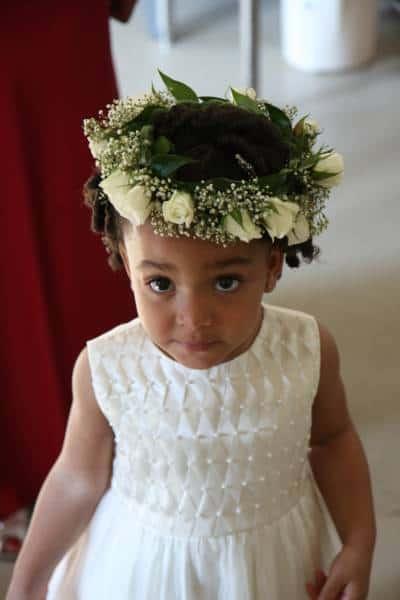 penteado para florista de casamento