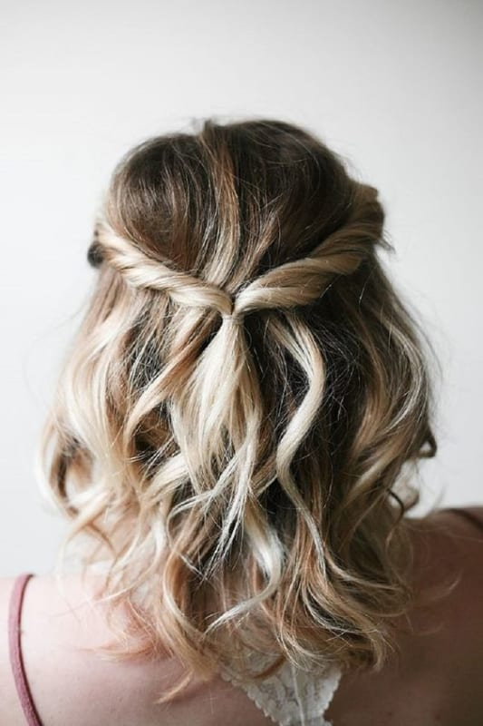 penteado para casamento simples