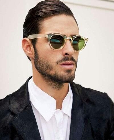 óculos de sol masculino redondo com lente colorida