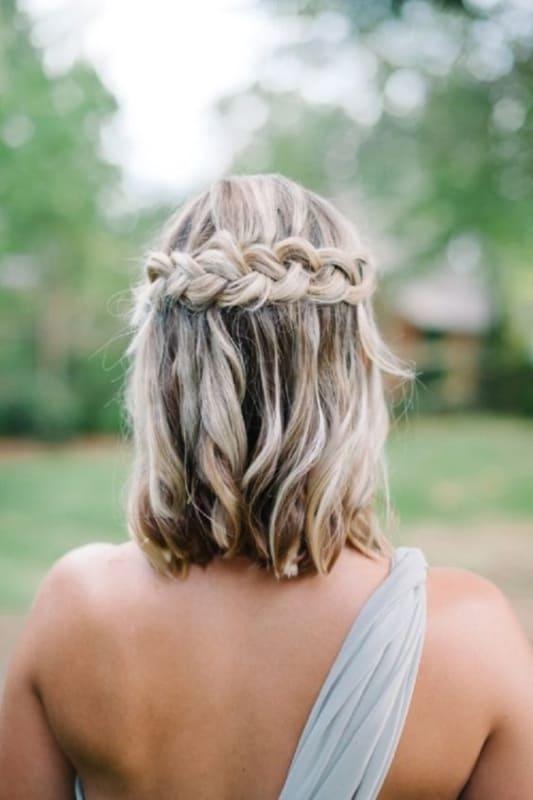 penteado para casamento durante o dia