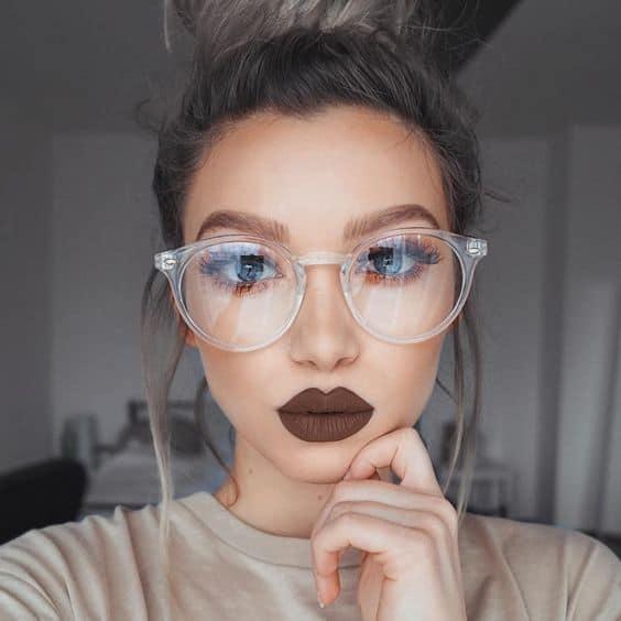 óculos redondo e grande