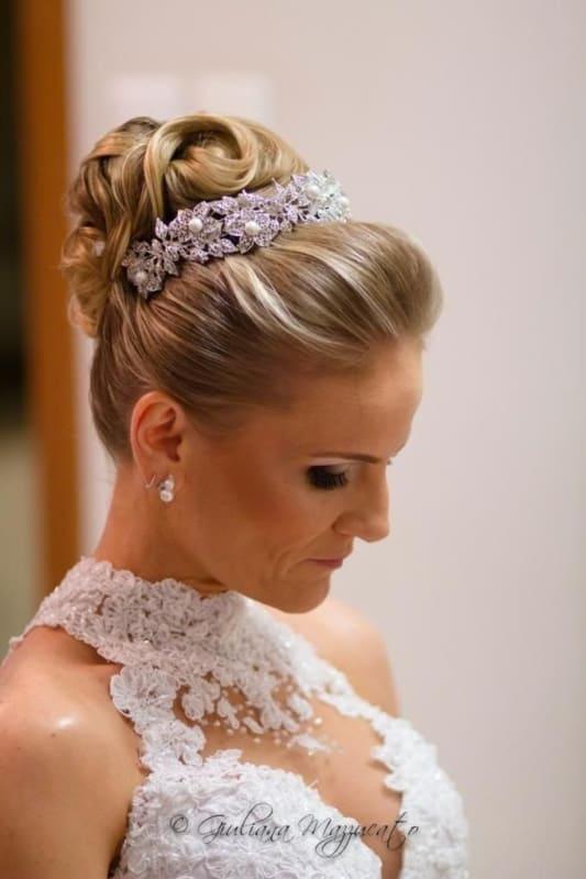 penteado de noiva com porta coque