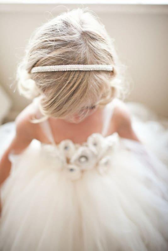 penteado infantil simples para casamento