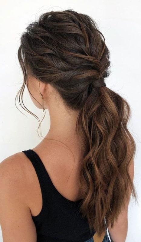 cabelo preso simples