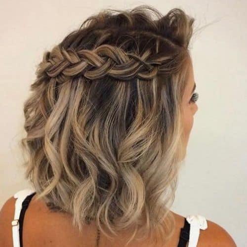 penteado para cabelo curto para convidada