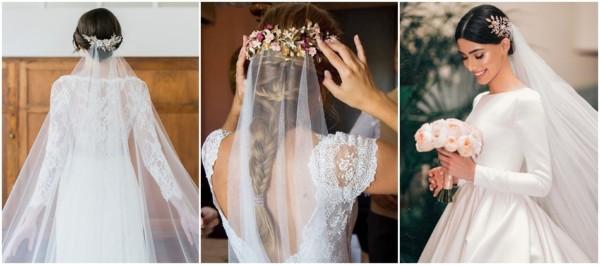 penteados para noivas com véu