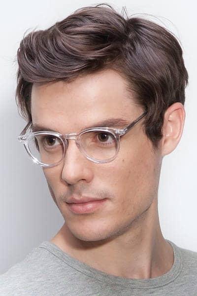 óculos com armação redonda pequena