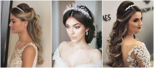 penteados para noivas com tiara