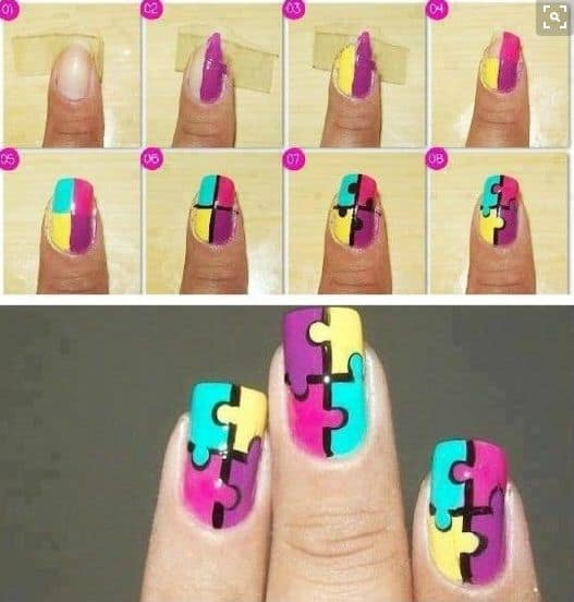 como fazer nail art para carnaval