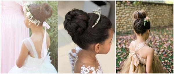 penteados para daminhas com coque