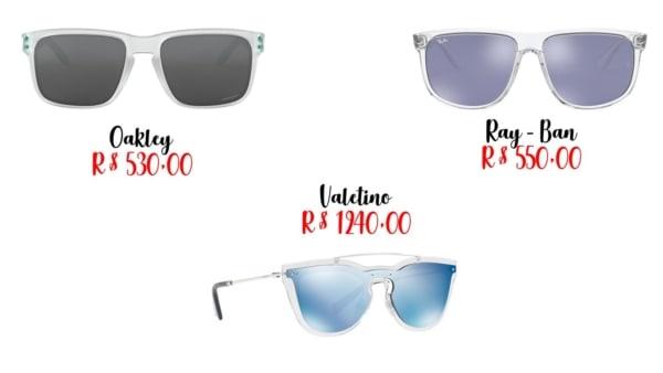 modelos e preços de óculos transparente