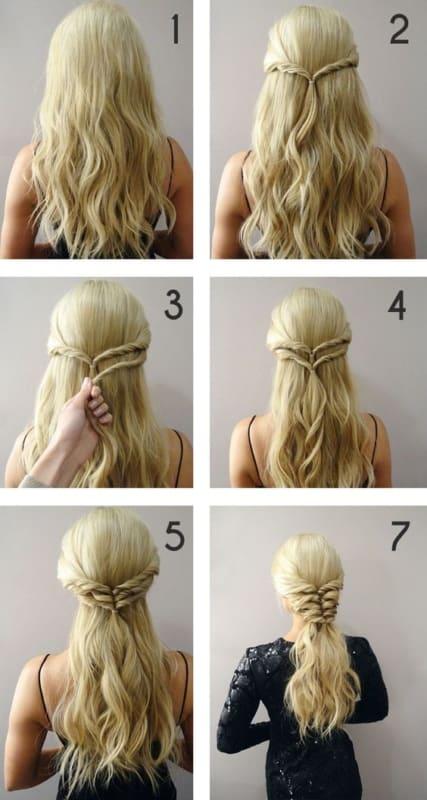 tutorial de penteado simples para casamento