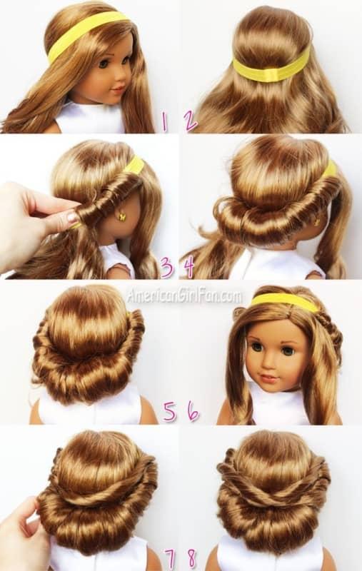 como fazer penteado simples em daminha